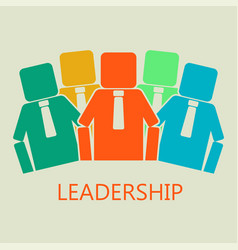 team concept leadership concept vector image