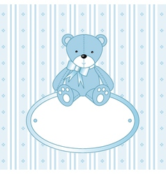 Teddy bear background vector