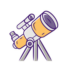 Telescope color icon optical instrument for star vector