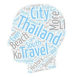 Thailand is Their Land text background wordcloud vector