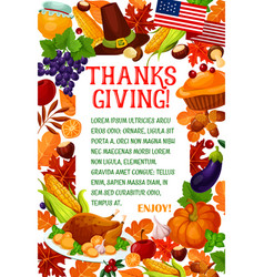 thanksgiving day autumn holiday greeting banner vector image