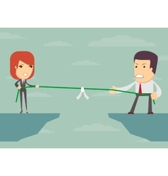Tug of war business concept vector