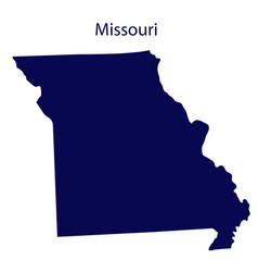United states missouri dark blue silhouette of vector