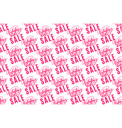 valentines day sale holiday seamless pattern vector image