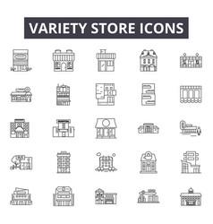 Variety store line icons for web and mobile design vector