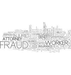 What is fraud text word cloud concept vector