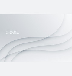 White abstract background with wave lines design vector