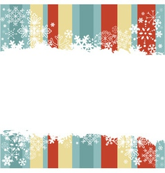 winter invitation postcard with snowflakes vector image