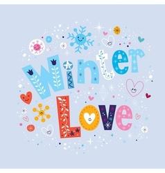 Winter Love 2 vector image