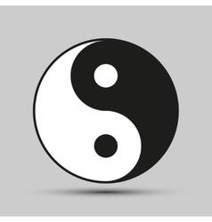 Ying yang balance symbol vector