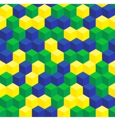Brazilian colors seamless pattern vector image vector image
