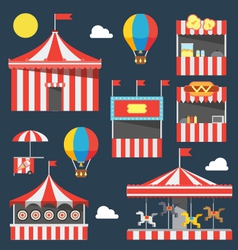 Flat design of carnival festival vector image vector image