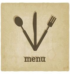 menu old background vector image vector image