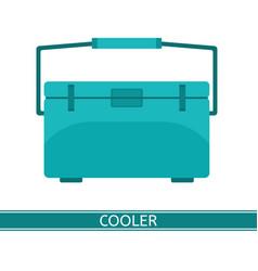 portable cooler icon vector image vector image