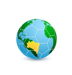 soccer planet vector image vector image