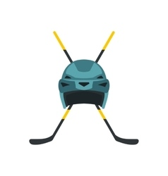 Two crossed hockey sticks icon vector image vector image