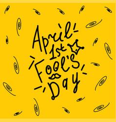 april happy fool s day funny humor vector image