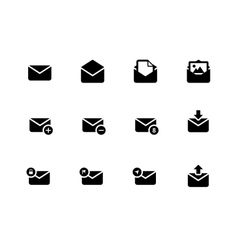 Email icons on white background vector image