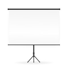 empty white board presentation on tripod vector image