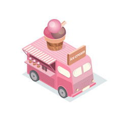 isometric food trucks vector image