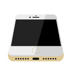 white glossy smartphone vector image