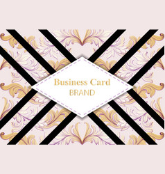 business card luxury brand card with realistic vector image