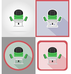 electric repair tools flat icons 15 vector image vector image