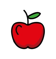 fresh apple isolated icon design vector image vector image