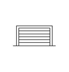 garage icon vector image vector image