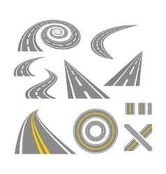 Asphalt curved roads vector image