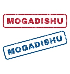 Mogadishu rubber stamps vector