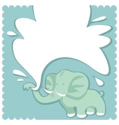 newborn congratulation greeting card vector image