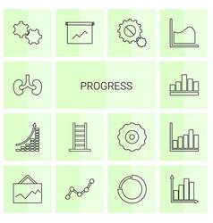 14 progress icons vector image