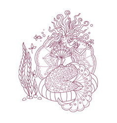 Antistress coloring pages vector