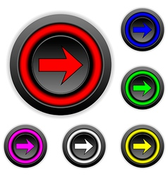 Arrow sign buttons set vector