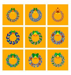 Assembly flat christmas wreath vector