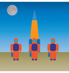 Astronauts and the rocket vector