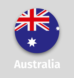 australia flag round icon vector image
