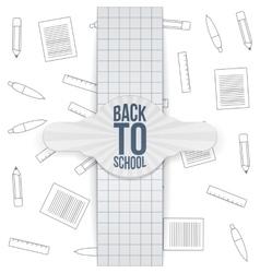 Back to School realistic paper Badge vector