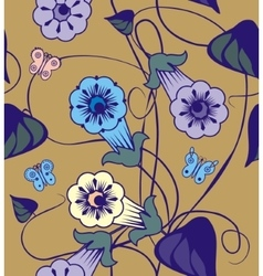 Bindweed flowers a seamless pattern vector
