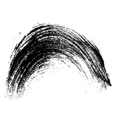 black arc brush stroke design element vector image