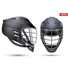 Black Lacrosse Helmet set vector
