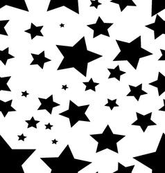 black stars vector image