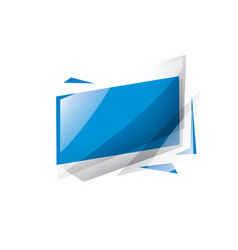blue sticker on white background vector image