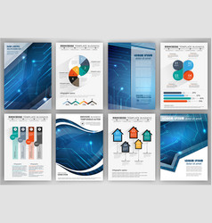 brochure template with infographic elements vector image