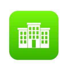 Building icon digital green vector