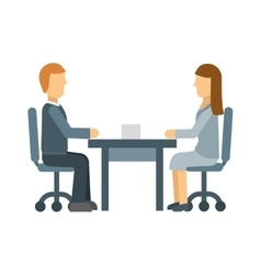 Business lunch meeting in a cafe restaurant table vector