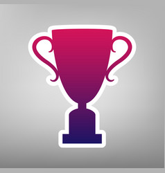 champions cup sign purple gradient icon vector image