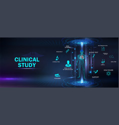 Clinical study healthcare concept banner vector