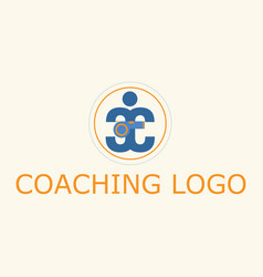 Coaching sport logo vector